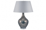 Hand Etched Mercury Lamp