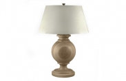 Solid Wood Orb Lamp