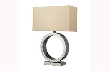 Aurora Chrome Table Lamp