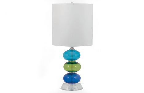 Multi Color Glass Lamp